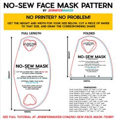 no sew face mask pattern \ no sew face mask . no sew face mask diy . no sew face mask bandana . no sew face mask pattern . no sew face mask tshirt . no sew face mask tutorial . no sew face mask from tshirt . no sew face mask from socks Easy Face Masks, Homemade Face Masks, Diy Face Mask, Fabric Markers, Fabric Glue, Fabric Scraps, Pin On, Old T Shirts, Maker