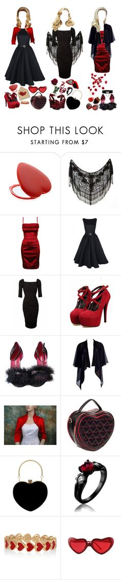 """Happy Valentines Day"" by sw-13 ❤ liked on Polyvore featuring Galliano, Pinup Couture, Betsey Johnson, Emanuel Ungaro, CO, Banned, Christian Dior and Alison Lou"