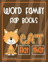 Word Family Flap Books Activity. Pinned by SOS Inc. Resources.  Follow all our boards at http://pinterest.com/sostherapy  for therapy resources.