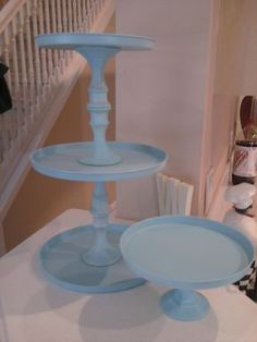 Super easy and cheap cupcake stand. Going to the dollar store this week!