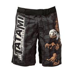 PUGILATO MUAY THAI KICK MMA UFC Grappling Pantaloncini Nero Cage Fighting Gear Pantaloncini