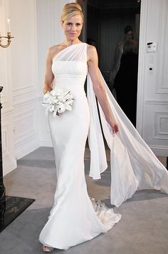 Screen Siren Wedding Dress Over 40 Second Dresses One Shoulder