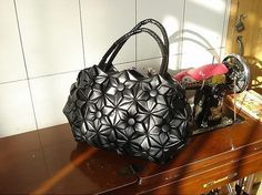Leather bag origami