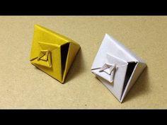 【折り紙(おりがみ)】 巻貝のギフトボックス(箱)の折り方 作り方 一枚折り 実用 入れ物 - YouTube