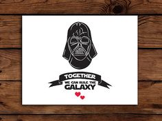 Star Wars Valentine Card Printable // Darth by SomebodyLovedShop, $2.00