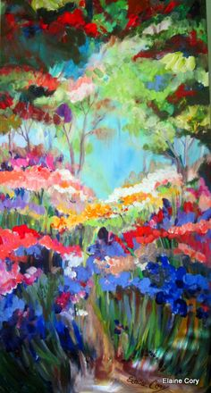 Large Original Painting 24 x 48  by Elaine by ElainesHeartsong, $625.00