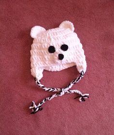 Fuzzy Polar Bear Hat  https://www.etsy.com/listing/180424879/fuzzy-polar-bear-hat