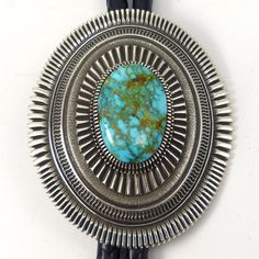 Pilot Mountain Turquoise Bola Tie by Ron Bedonie - Garland's Indian Jewelry Silver Jewellery Indian, Southwest Jewelry, Pilot Mountain, Native American Jewelry, Turquoise Jewelry, Stone Jewelry, Jewelry Collection, Navajo, Blue Gem