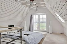 Мансарда - спальня