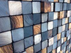 Sticker bois récupéré  Sculpture Art murale bois par WallWooden