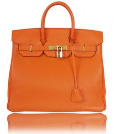 Hermes Orange Birkin Bag. Be still my heart.