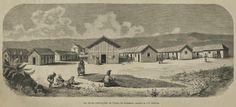 Costa da Caparica, As novas edificações, 1887, desenho de João Ribeiro Cristino Imagem: Hemeroteca Digital