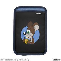 Cute mouse cartoon iPad mini sleeves