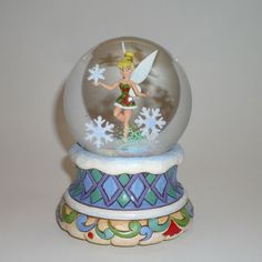 Disney tinkerbell Figurines  | Jim Shore Disney Traditions Tinkerbell with Snowflake Figurine