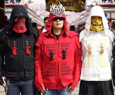 Transform yourself into a modern day warrior by slipping into one of these samurai armor hoodies. The design incorporates aspects of traditional Japanese armor into a fashionable garment that's both comfy to wear and great at fighting off the cold.