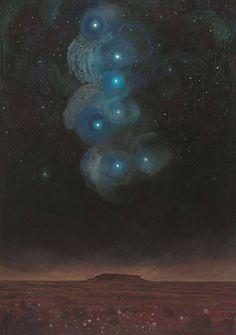 "amare-habeo:  "" Titouan Lamazou (Moroccan, born 1955. UNESCO artist for Peace)  Aïr desert - the Great Bear, N/D  Oil on canvas, 152 x 108 cm  """