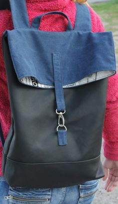 leather backpack unisex bag by SunbeamSantorini on Etsy