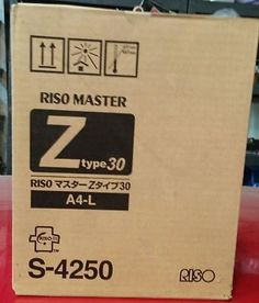 business-commercial: RISO Master Z type30 A4-L, S-4250, Box of 2 for Risograph #Business - RISO Master Z type30 A4-L, S-4250, Box of 2 for Risograph...
