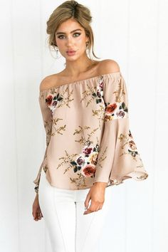 Dusty Rose Floral Top (available in 2 colors) You've just found the perfect floral top! This gorgeous Dusty Rose Floral top goes with jeans, shorts, capris and looks great for a weekend out or pair with a cute skirt for a day at the office. TheChicFind.com