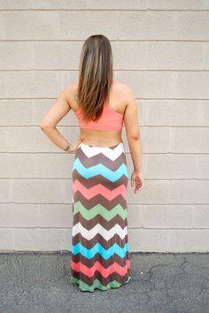Cute chevron Maxi Dress