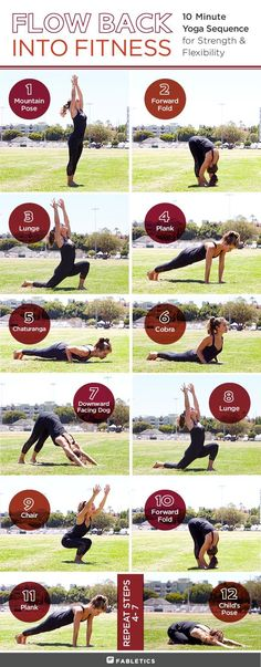 Go with the flow: Ease back into your fitness routine, try this simple, yet effective yoga sequence, which will build up your strength and boost your flexibility. - More on blog.fabletics.com