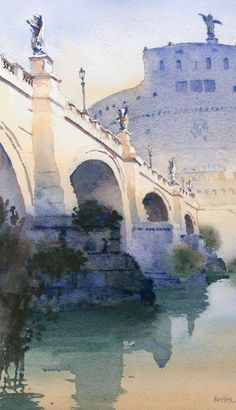 Figure out how to translate value to color in watercolor painting and you will paint anything beautifully.  #artinspiration #watercolorpainting