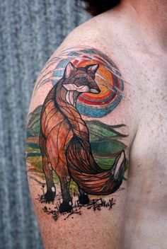 David Hale fox tattoo