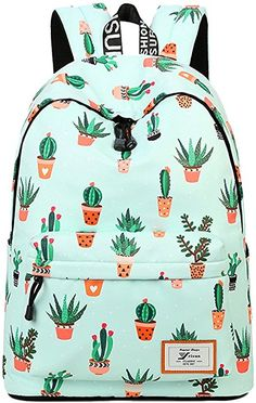 Amazon.com: AOAKY Backpacks Pineapple School Bookbag Cactus Daypack Lightweight Canvas College Bags by (Green-Cactus): Toys & Games