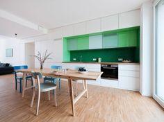 modo elegante di utilizzare ceramica verde in cucina classica, stile scandinavo
