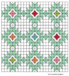 Desert Star Quiltmodern quilt pattern Throw Quilt by AirBornQuilts