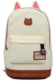 4215225d2c2d 2016 Cat Ears Campus Retro Backpack