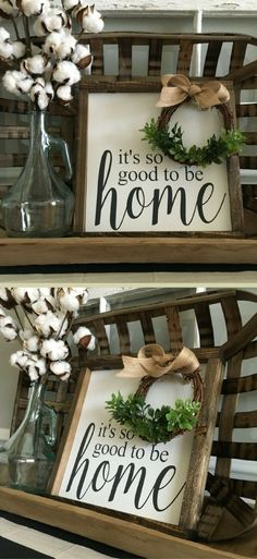 Perfect for an entryway or mudroom.. let it be the first thing you see when you walk in your home from a long day! It's So Good to be Home Sign, Wood Framed Sign, Rustic Decor, Farmhouse Decor, Farmhouse sign, Rustic sign, Gallery Wall, housewarming gift #ad