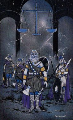 VIII. Justice - Lord of the Rings Tarot by Peter Pracownik, Terry Donaldson
