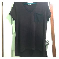 Charlotte Russe shirt Worn about 4 times. Very lightweight and comfortable. Loose fitting. Love the dark colors. The back is slightly longer than the front (I wore it with leggings) Charlotte Russe Tops Tees - Short Sleeve