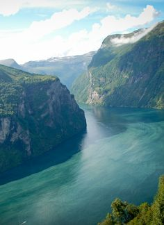 Geiranger Fiord, Norway - cruised this fjord on the P liner the Arcadia.