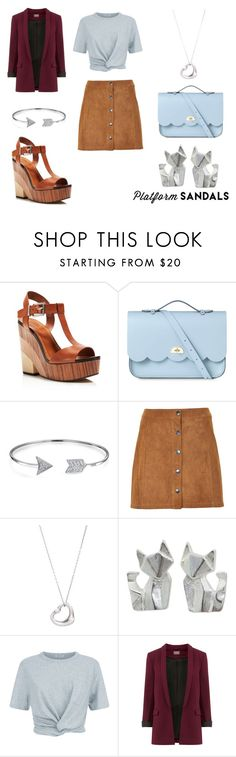 """""""Stand Up! Platform Sandals"""" by emma-esselmark on Polyvore featuring Vince Camuto, The Cambridge Satchel Company, Bling Jewelry, Soaked in Luxury, Tiffany & Co., NOVICA and T By Alexander Wang"""