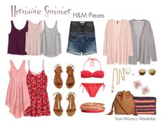 """""""Hermione: Summer"""" by evalupin ❤ liked on Polyvore featuring H&M, harrypotter, hogwarts, HermioneGranger and hermione"""