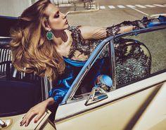 Driving Miss Odette - Odette Pavlova by Luigi & Iango for Vogue Japan September 2016 - Moschino