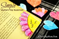 Corner book marks ~ mother's day craft for kids diy - a thrifty mom Mothers Day Crafts For Kids, Crafts For Kids To Make, Crafts For Teens, Kids Diy, Diy And Crafts Sewing, Fun Crafts, Amazing Crafts, Preschool Crafts, Craft Tutorials