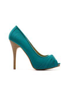 """Gathers Peep Toe Shoes"" by Blanco"