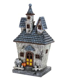 Loving this 14'' LED Halloween House on #zulily! #zulilyfinds