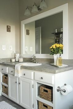Industrial Farmhouse Bathroom Reveal Industrial Farmhouse Industrial And Vanities