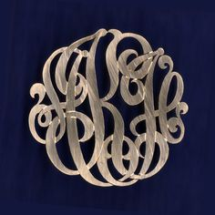 This would be awesome in a gold pin/pendant The monograms from this dealer are beautiful. Shades Of Gold, Monogram Styles, Silver Pearls, Jewelry Necklaces, Jewellery, Stone Jewelry, Gold Wedding, Mary Washington, Kitchen Pulls