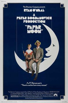 Paper Moon (1973)  i love this movie, and the one sheet for it. goes back to the incredible art for movies that existed in the 70's.