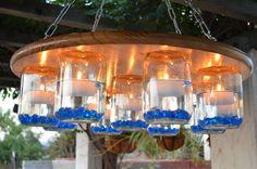 candle mason jar chandelier