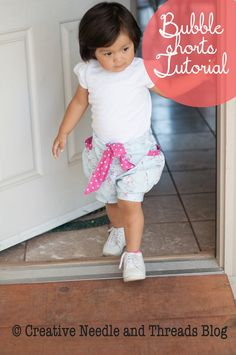 Creative Needle and Threads: Bubble Shorts with Sash Tutorial