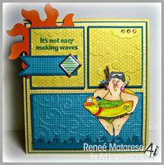 Art Impressions Ai People Sally Swimmer Set (Sku#4323) beach card