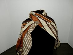 Classy Vintage Silk Scarf by JustForYouByDiane on Etsy