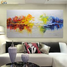 Thick Textured Palette Knife Hand Painted Modern Abstract Oil Painting Canvas Wall Art Picture Gift Home Decor No Framed Oil Painting Abstract, Abstract Canvas, Diy Painting, Painting Canvas, Wall Art Pictures, Pictures To Paint, Picture Gifts, Canvas Wall Decor, Art Projects