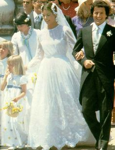 Verena's Royal Wedding Site:  Princess Caroline's first wedding to Philippe Junot, June 1978